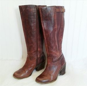 Lucky Brand Distressed Leather Knee High Boots